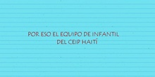 Equipo de Infantil anima a su alumnado CEIP HAITI