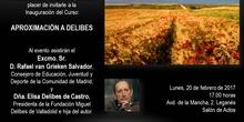 Invitación a la inauguración del curso APROXIMACIÓN A DELIBES