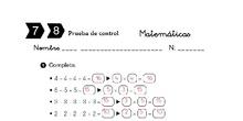 Corrección Control Matemáticas  7 y 8
