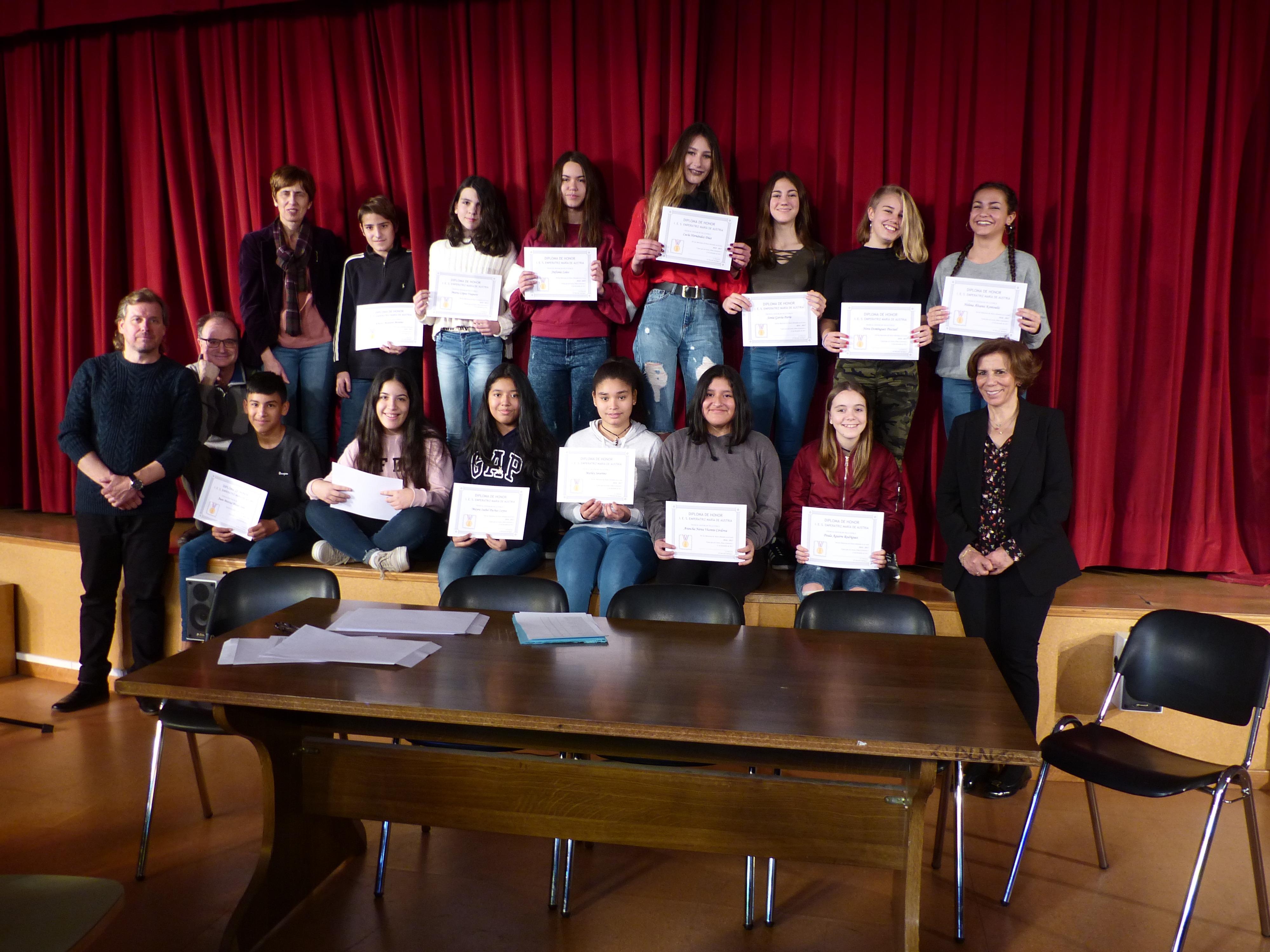 Acto Entrega Diplomas Menciones Honoríficas curso 2017-2018 5