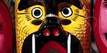 Máscara indígena oaxaqueña de un armadillo, México