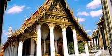 Fachada templo, Bangkok, Tailandia