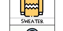 Robot Next Edelvives - Tarjetas de vocabulario de ropa