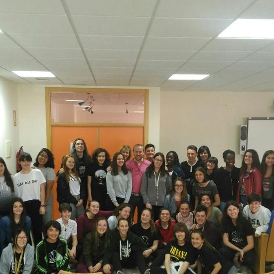 Álvaro Tato - Encuentro con los actores del IES Nicolás Copérnico 10