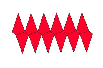 Desarrollo de un trapezoedro hexagonal
