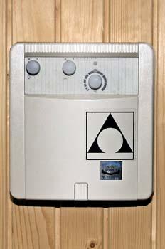 Sauna: mando de puesta en funcionamiento
