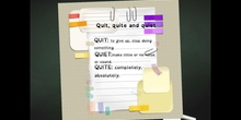 PRIMARIA - 6º - QUIT, QUITE, QUIET - ENGLISH - FORMACIÓN