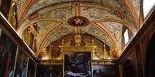 Bóveda de lunetos dividida en tres tramos, Huesca