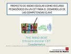 Powerpoint ponencia emisora escolar CET Guadarrama
