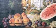 Bodegón del jarrón de Talavera, de Felipe Checa - Badajoz