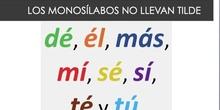 LOS MONOSÍLABOS