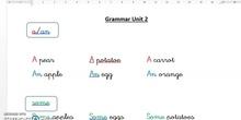 2º Grammar a-an-some
