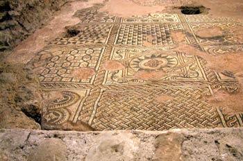 Mosaicos del s. IV, Catedral de San Pedro, Ginebra, Suiza