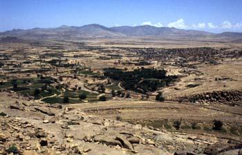 Paisaje en el norte de la provincia de Sanaa, Yemen