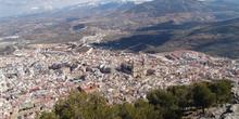 Vista de la Catedral desde el Castillo de Santa Catalina, Jaén,