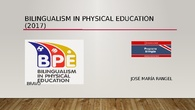 Bilingualism in Physical Education (2017)
