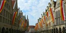 Calle comercial principal de Muenster, Alemania