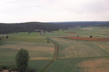 Vista desde el Castillo de Calatañazor, Valle de la Sangre, Cala