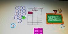 División ABN decimales. Dividendo menor que 1.