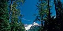 Vista de una cumbre en las Montañas Rocosas