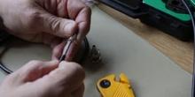 Crimpado y verificación de conector RG-58