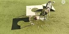 Cohetes caseros en el IES Manuel de Falla