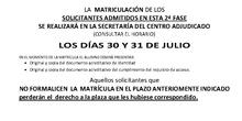 Listados Admitidos CGM SAE Madrid Sur
