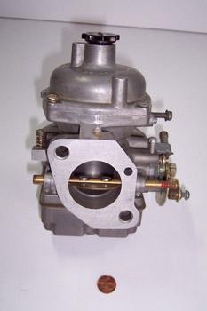 Mariposa de un carburador atmosférico refrigerado por aceite