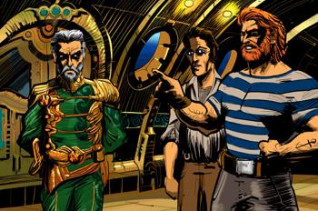 Veinte mil leguas de viaje submarino: Pierre Aronnax, Ned Land y