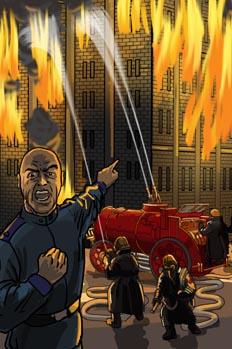 Los quinientos millones de la Begun: Incendio en la ciudad del A