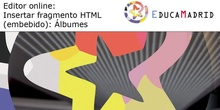Editor online: Insertar fragmento HTML: Álbumes