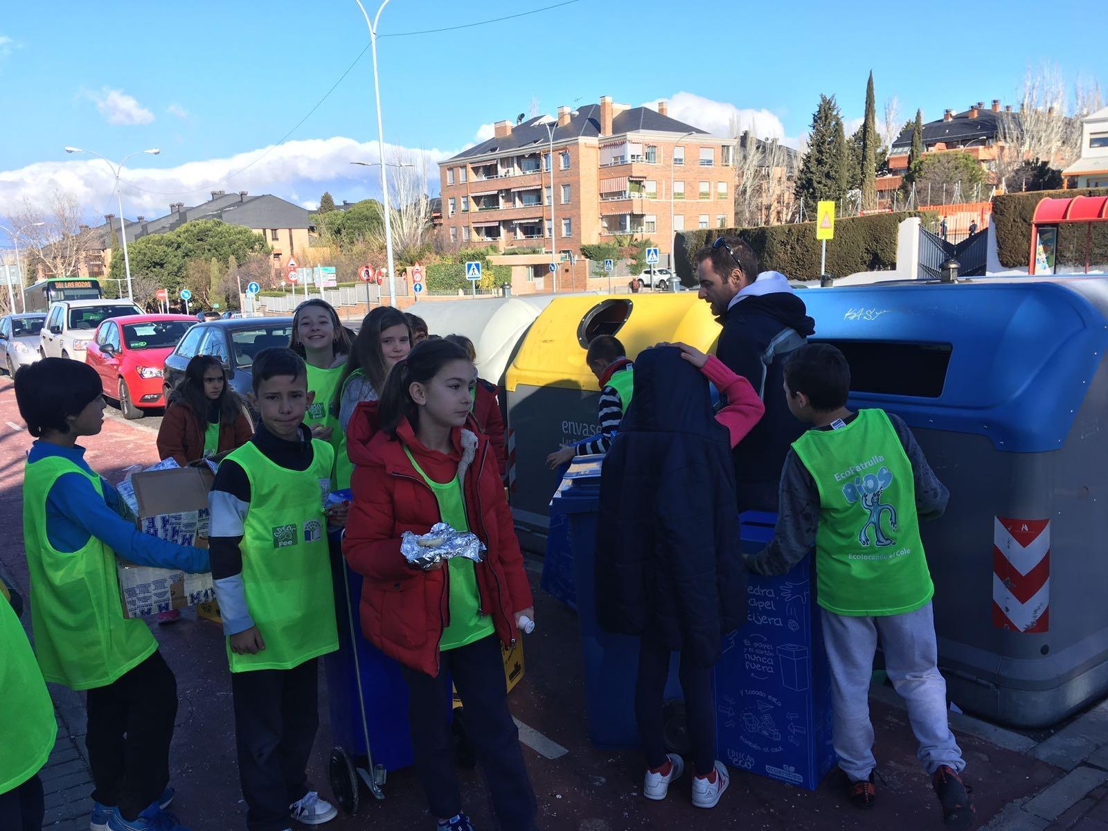 2018_02_EcoPatrullas reciclando_CEIP Fernando de los Ríos_Las Rozas 3