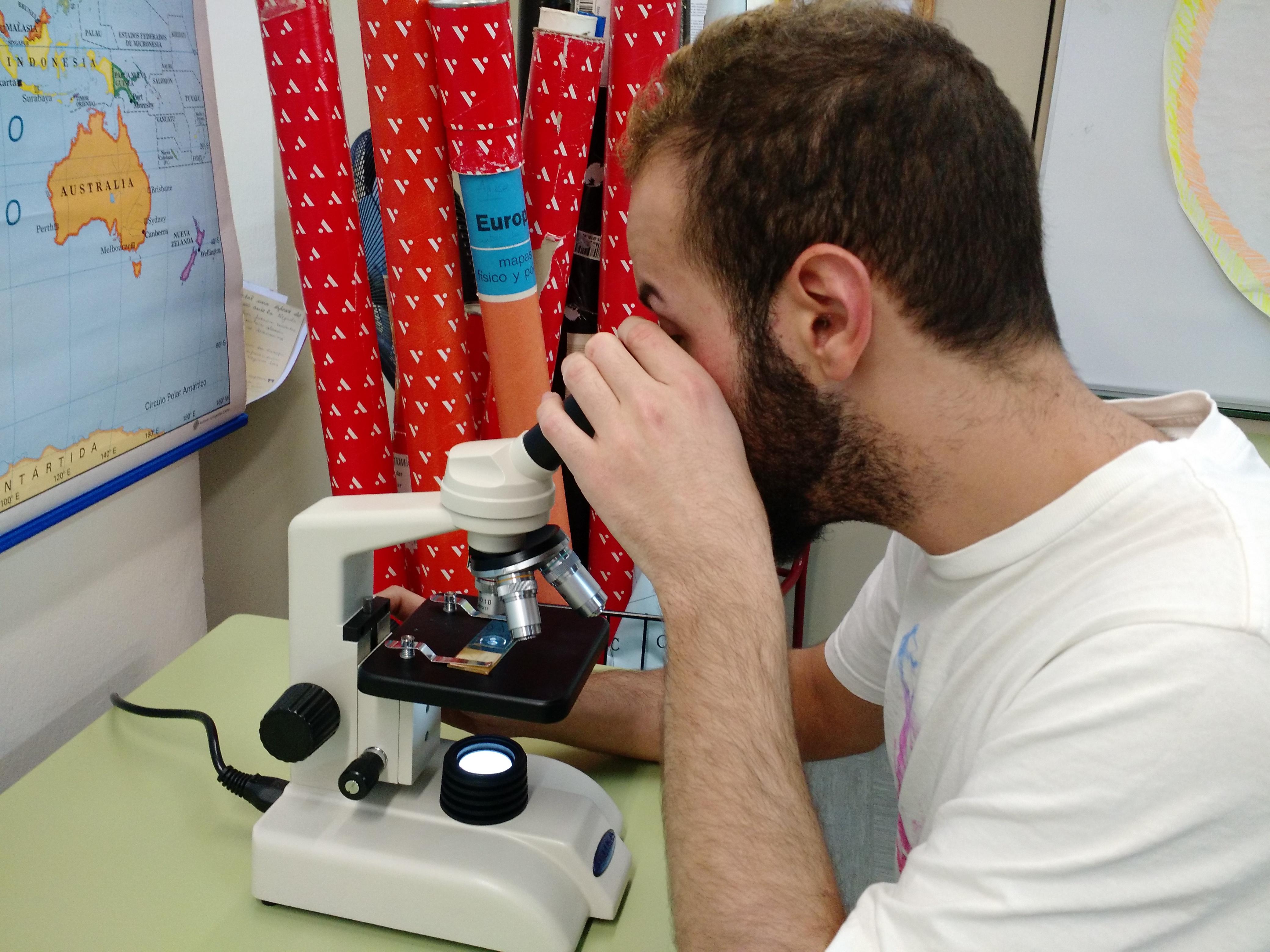 Usando el microscopio 9