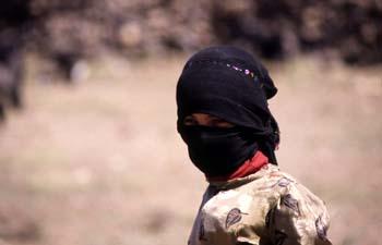 Retrato de una joven trabajadora en el campo, Yemen