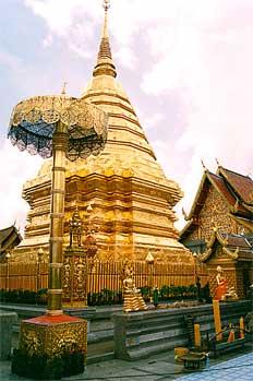Arquitectura en pan de oro, Chiang Mai
