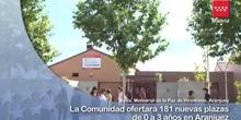 Aranjuez dispondrá de 181 nuevas plazas educativas para niños de 0 a 3 años