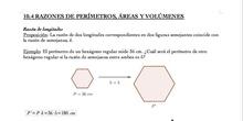 Razones de perímetros, áreas y volúmenes