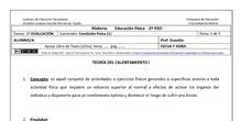 Ficha de Condición Física 1 para 2º ESO