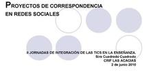 """""""Proyectos de correspondencia en redes sociales"""" por Dª.Sira Cuadrado Cuadrado"""