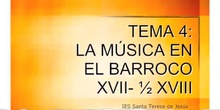 3º ESO HISTORIA DE LA MÚSICA. BARROCO.
