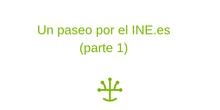 Trabajar matemáticas, geografía o economía mediante la web del INE