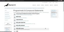 MariaDB, MySQL - Programación