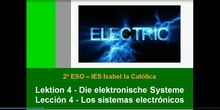 2º ESO / Tema 4 -> Los sistemas electrónicos