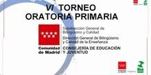 VI Torneo de Oratoria en Primaria Comunidad de Madrid 2021