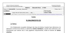 Ficha de Baloncesto 3 para 1º ESO
