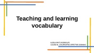 IN_22 Supporting effective learning. Vocab topic