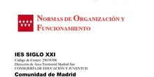 Normas de Organización y Funcionamiento del Centro