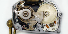 Actuador de mariposa de gases motorizado. Vista de engranajes