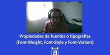 CSS3 - Propiedad fuentes (Weight, Style y Variant)