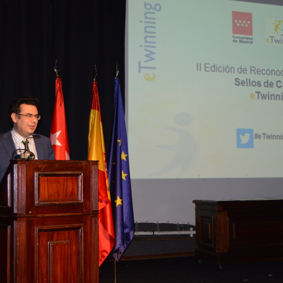 Entrega diplomas II Edición Reconocimiento Sellos de Calidad eTwinning Comunidad de Madrid 2
